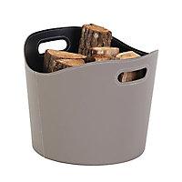 Rangement à bois Gamma taupe