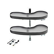 Rangement coulissant d'angle pour meuble de cuisine GoodHome Pebre 100 cm, droite