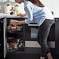 Rangement coulissant d'angle pour meuble de cuisine GoodHome Pebre 80 cm, droite