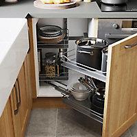 Rangement intérieur coulissant d'angle droit pour meuble de cuisine GoodHome Pebre 100 cm