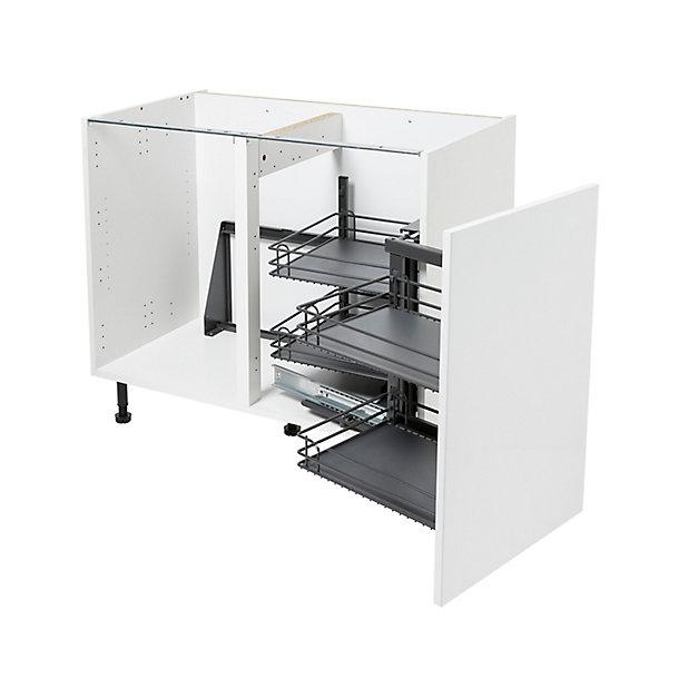 Rangement Interieur Coulissant D Angle Droit Pour Meuble De Cuisine Goodhome Pebre 100 Cm Castorama