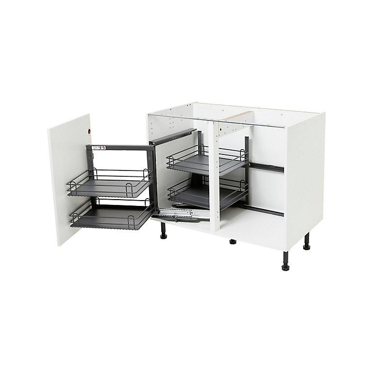 Rangement Interieur Coulissant D Angle Gauche Pour Meuble De Cuisine Goodhome Pebre 100 Cm Castorama