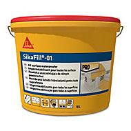 Revêtement d'étanchéité élastique pour toiture grisSika Sikafill-01 10 L