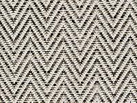 Revêtement sol fibre synthétique noir et blanc chevrons Forest (vendu à la coupe)