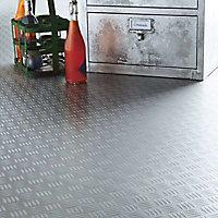 Revêtement sol PVC Design Metallica décor métal 2m (vendu au m²)