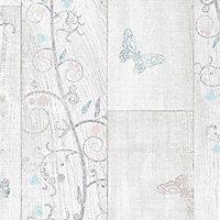 Revêtement sol PVC Exclusive Girly pastel 3m (vendu à la coupe)