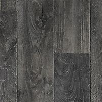 Revêtement sol PVC Funtex Factory gris anthracite 4 m (vendu à la coupe)