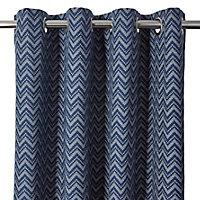Rideau Asar Effet jacquard 260x140cm GoodHome Bleu marine