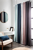 Rideau chambray 135/240 cm bleu