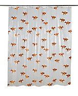 Rideau de douche plastique Peva multicolore décor poisson rouge 180 x 200 cm Nosara