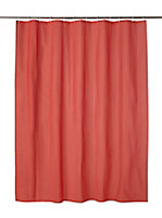 Rideau de douche plastique Peva rouge 180 x 200 cm Palmi