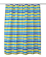 Rideau de douche tissu bleu 180 x 200 cm Navesti