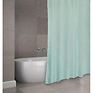 Rideau de douche tissu vert 180 x 200 cm