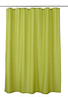 Rideau de douche tissu vert uni 180 x 200 cm Diani