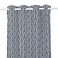 Rideau effet coton Nebaa 14x26cm bleu nuit