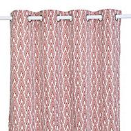 Rideau effet coton Nebaa 14x26cm terracotta