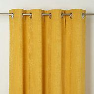 Rideau GoodHome Pahea jaune 135 x 260 cm