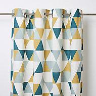 Rideau GoodHome Rima bleu et vert 140 x 260 cm