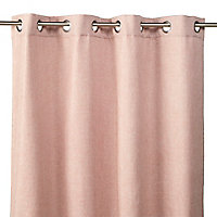 Rideau isolant thermique Chambray 140 x 240 cm rose