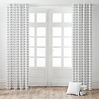Rideau marguerite blanc 140 x 240 cm