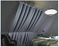 Rideau occultant Chap 140 x 260 cm gris clair