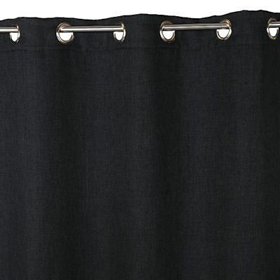 rideau occultant colours barcelona noir 140 x 240 cm