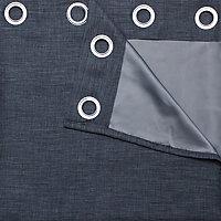 Rideau occultant GoodHome Novan gris 140 x 260 cm