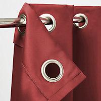 Rideau occultant GoodHome Vestris rouge 140 x 260 cm