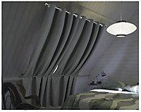 Rideau occultant Mantée Tendence gris foncé 140x240 cm