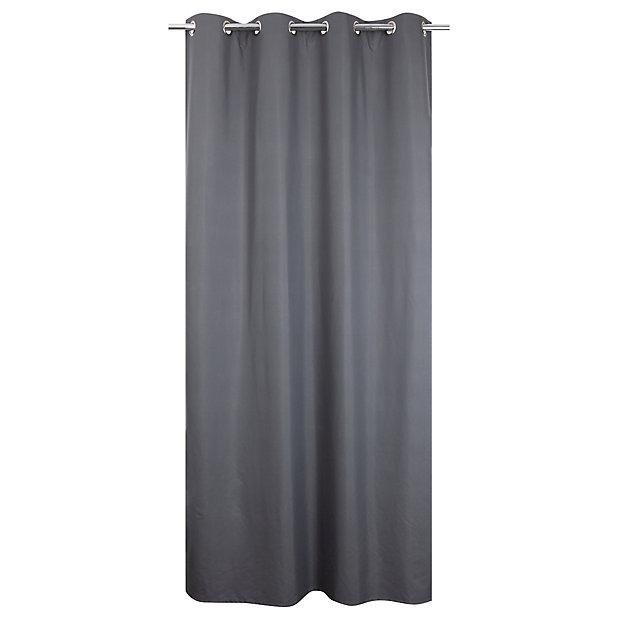 rideau occultant thermique gris 135 x 240 cm