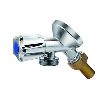 robinet simple et applique pour lave linge et lave vaisselle chrome diall