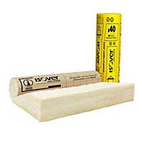 Rouleau isolant combles perdus et plafonds laine de verre kraft Isover - 1,2 x 2,4 m ép.320 mm R. 8 Km²/W (vendu au rouleau)