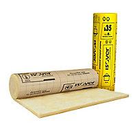 Rouleau isolant plafonds supérieur laine de verre kraft Isover - 1,2 x 4,7 m ép.120 mm R. 3,4 Km²/W (vendu au rouleau)