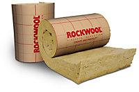 Rouleau laine de roche Rockwool Easyrock - 0,6 x 2,20 m ép.200 mm - Lot de 2 rouleaux