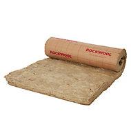 Rouleau laine de roche Rockwool Roulrock kraft - 1,2 x 2,4 m ép.200 mm R. 5,1 Km²/W (vendu au rouleau)