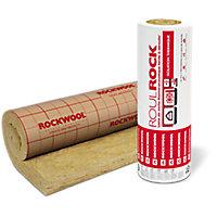 Rouleau laine de roche Rockwool Roulrock kraft - 1,2 x 5 m ép.100 mm (vendu au rouleau)