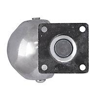Roulette bille pivotante sans frein ø50 mm, plaque, charge max 40kg
