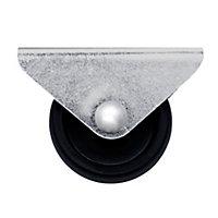 Roulette fixe noire ø2.95 cm, charge max 15 kg