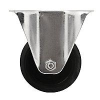 Roulette fixe noire ø8 cm, charge max 70 kg