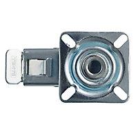 Roulette pivotante avec frein ø75 mm, à platine pivotante, charge max 60kg