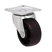 Roulette pivotante noire ø4.1 cm, charge max 20 kg