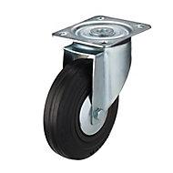 Roulette pivotante à platine pivotante ø125 mm, charge max 100 kg