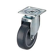 Roulette pivotante à platine pivotante ø75 mm, charge max 60 kg