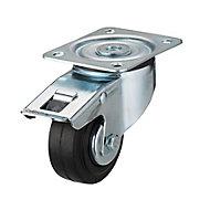 Roulette pivotante à platine pivotante ø80 mm, charge max 70 kg