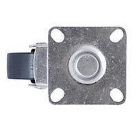 Roulette pivotante sans frein ø40 mm, plaque ø42 mm, charge max 25kg