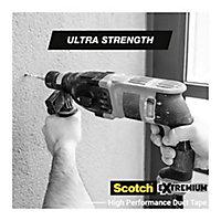 Ruban adhésif toile de réparation Scotch Extremium 25 x 48 mm noir