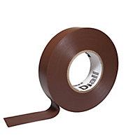 Ruban d'isolation électrique 19mm x 33m marron