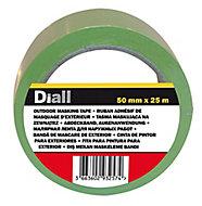 Ruban de masquage extérieur Diall 25 m x 48mm - 1 rouleau