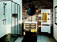 Sèche-serviette électrique à inertie fluide Sauter Asama connecté blanc 750W