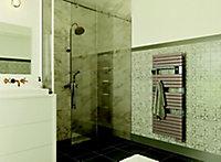 Sèche-serviette électrique soufflant à inertie fluide Sauter Asama connecté cappuccino 1750W